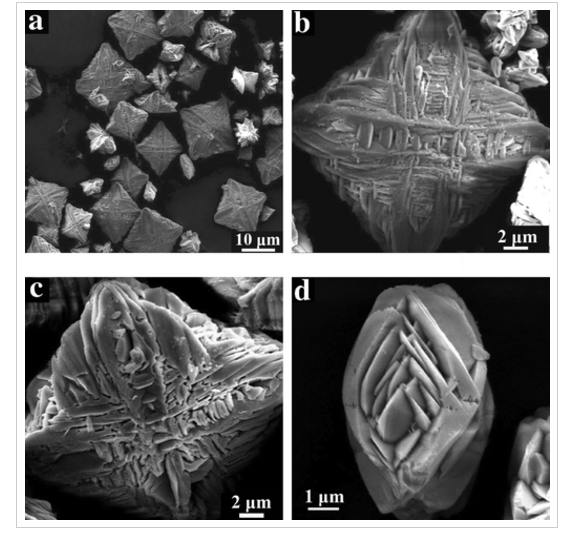 38.Hierarchical Three-Dimensional Cobalt Phosphate Microarchitectures: Large-Scale Solvothermal Synthesis, Characterization, and Magnetic and Microwave Absorption Properties